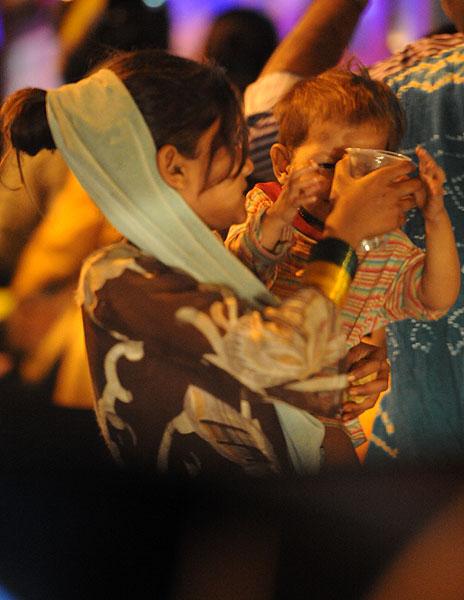 It was heartbreaking seeing children begging for food